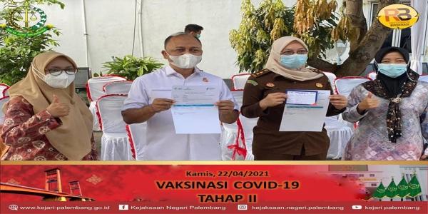 Kejaksaan Negeri Palembang melaksanakan vaksinasi covid-19 Tahap Ke-2